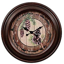 BLACK FOREST DECOR Pinecone Wall Clock - Large