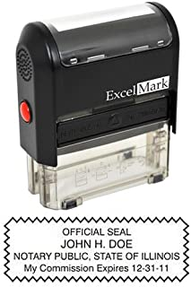 ExcelMark Self Inking Notary Stamp - Illinois