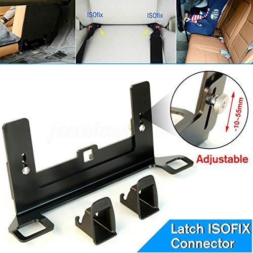 Connettore per cintura, intervallo di regolazione dell'altezza 10~55 mm, colore nero, staffa di guida dell'interfaccia del seggiolino auto per bambini Chiusura ISOFIX