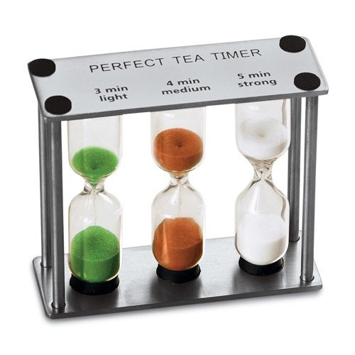 Lilys Home Perfect Tea Timer Three-In-One 3-4-5 Minute Sand Hourglass Timers