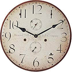 Howard Miller Original III Wall Clock 625-314 – Antique & Round with Quartz Movement