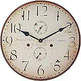 Howard Miller Original III Wall Clock 625-314 – Antique & Round with Quartz Movement