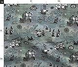 Pirat, Landkarte, Schwert, Sturm, Tonal, Altmodisch,