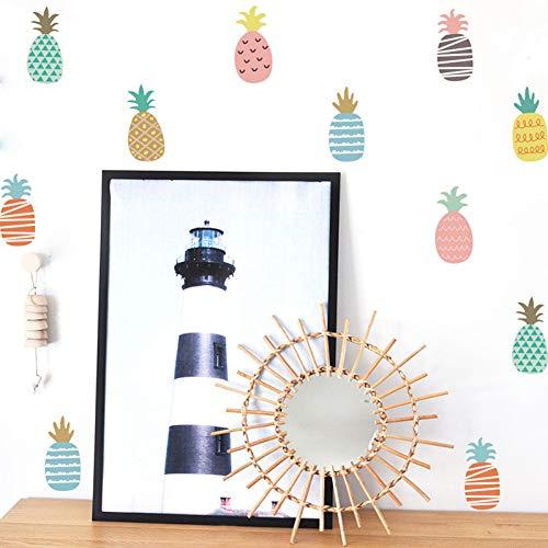 Taoyue Wandstickers op de koelkast gekleurde ananas afneembare keuken sticker kamerdecoratie vinyl wandtegels stickers