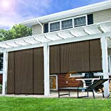 E&K Sunrise Roll up Shade Roller Shade 7'Wx6'H Porch Pergola Privacy Screen Roll up Blinds Sun Shade...