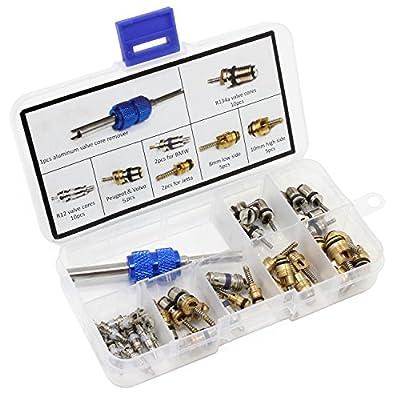 AuSL Automotive Air Conditioning Refrigeration Tire Valve Stem Cores Remover tool Assortment Kit