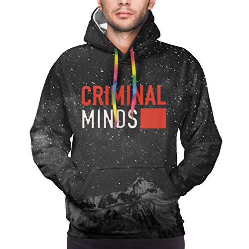 SHANNON SS Men's Hoodie Criminal&Minds Logo Color Drawstring Pullover Athletic Hooded Hoody Fashion Sweater with Pocket