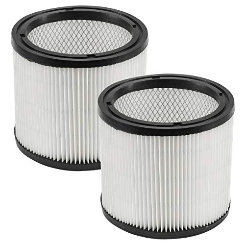 DerBlue 2pcs Replacement Filter Compatible with Shop-Vac 90304 90350 90333 fits Most Wet/Dry Vacuum Cleaners 5 Gallon and Above