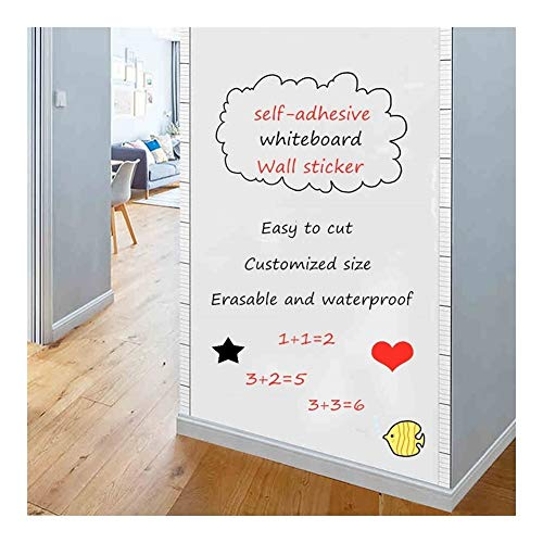 Whiteboard Wandsticker zelfklevende Message White Board Verwisselbare Tekenen Schrijven Teaching Bestuur for Office School Home Decor (Size : 100x60cm)