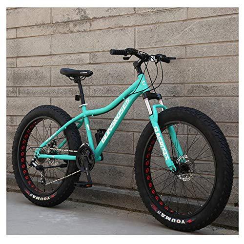 Nengge Mountainbike, 26 inch, frame van koolstofstaal, vette banden, fiets voor jongens en meisjes, hardtail MTB, fiets met schijfremmen