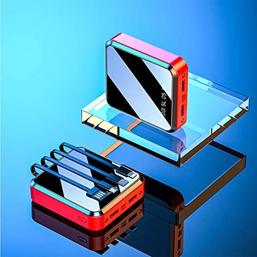 Tcbz Mini Banco de energía 20000 mAh/Banco de energía Delgado Banco de energía USB c/Bancos de energía portátiles para teléfonos móviles/Mini Banco de energía pequeño, Negro, 20000 mAh