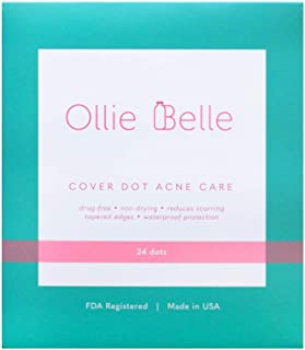 Cover Dot Acne Care (24 Dots) Skin Blemish Treatment with Hydrocolloid | Clear, Waterproof Patch | Oil and Pimple Absorbing