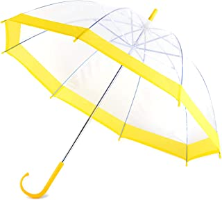 Kids Clear and Transparent Umbrella with an Easy Grip Handle, Petit Size, and Windproof for Boys and Girls.