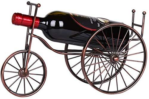 Estantería de vino Estante de vino Creative Bicycle Design Tabletop Botella de vino Soporte Freestanding Metal Metal Almacenamiento de vino Soporte de rack Baroque Design Crafts Copos Rose Gold Color
