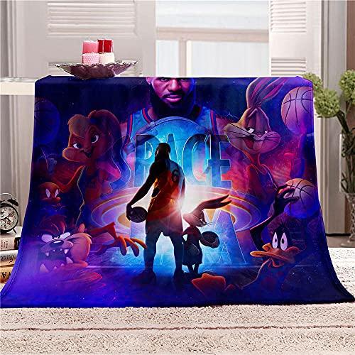 Manta con patrón Space Jam, Manta de impresión Digital 3D, Manta de Franela, Manta Suave, Manta de sofá, Manta de Doble Cara