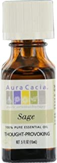 Aura Cacia Sage Essential Oil, 0.5 Oz