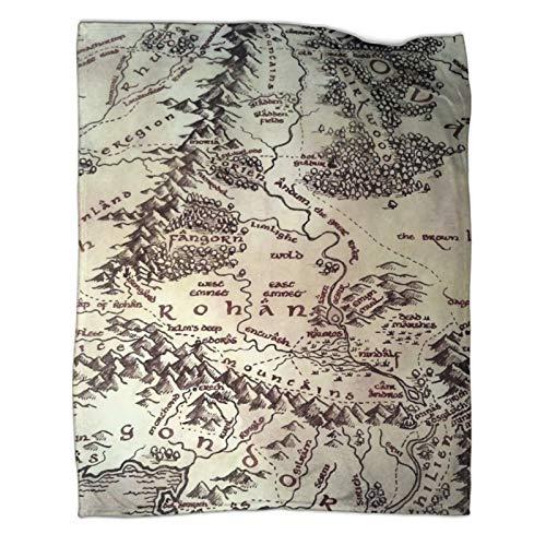 Der Herr der Ringe Der Herr der Ringe Expedition's Fantasy Adventure Kunstsprache Samtdecke 130 x 180 cm. Das weich dekorierte und bequeme Baumwollgewebe kann gedreht werden.