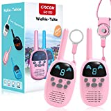 Children Walkie Talkies for 3-12 Year Old Boys Girls, GOCOM Portable Two Way Radios Kids Gift, Long Range Child Walky Talky Toys for Outside, Camping, Hiking (Pink, 2 Pack)