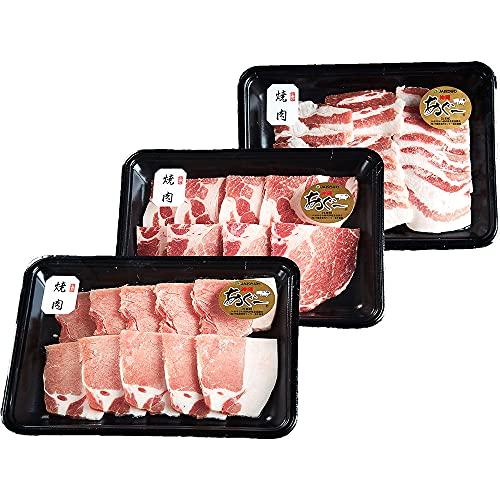 沖縄あぐー 焼肉セット ローススライス 肩ローススライス バラスライス セット おもろ企画 きめ細かい赤身と甘くとろける脂身の豚肉 臭みなくさっぱり