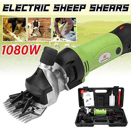 QZMX Clipper 1080W Professionali Tosatrice Pecore per Ovini per Attrezzature Animali da Allevamento Rasatrici, 6 Livelli di velocità 13 Straight Teeth