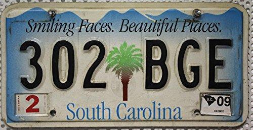 Original Nummernschild South Carolina // Auto-Kennzeichen US License Plate // USA Motiv-Blechschild mit Grafik