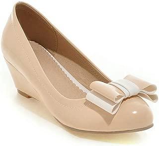 BalaMasa Womens APL12385 Pu Wedge Heels
