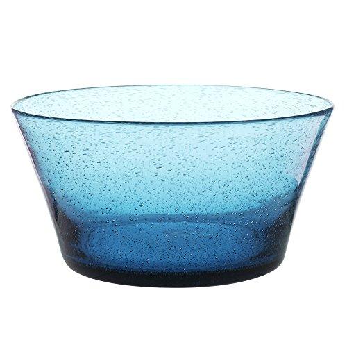 Table Passion - Saladier artisan bullé bleu