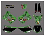 XIAOZHIWEN Motorcycle Team Graphics Background Decal and Sticker Kit for Kawasaki KX85 KX100 2001-2013 Universal