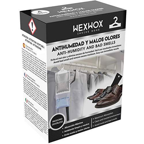Wexwox Percha Antihumedad Absorbe Humedades Elimina Olores (2+2 Unidades) 440gr + 150gr
