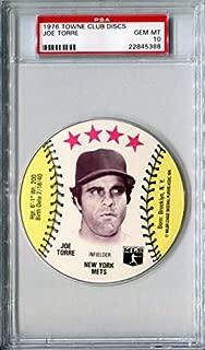1976 MSA Towne Club Sports Discs JOE TORRE Rare PSA Gem Mint 10 HOF SP New York Mets / St Louis Cardinals