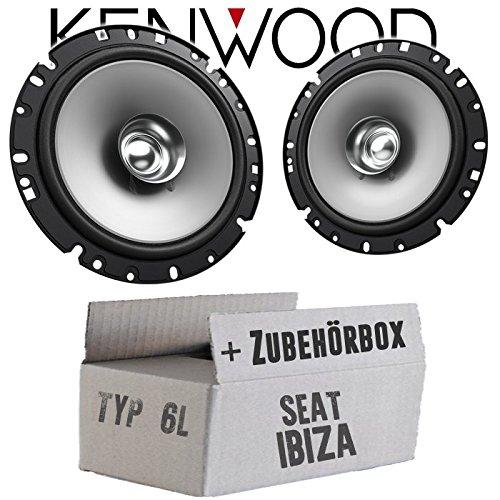 Lautsprecher Boxen Kenwood KFC-S1756-16cm Koax Auto Einbauzubehör - Einbauset für Seat Ibiza 6L Front Heck - JUST SOUND best choice for caraudio