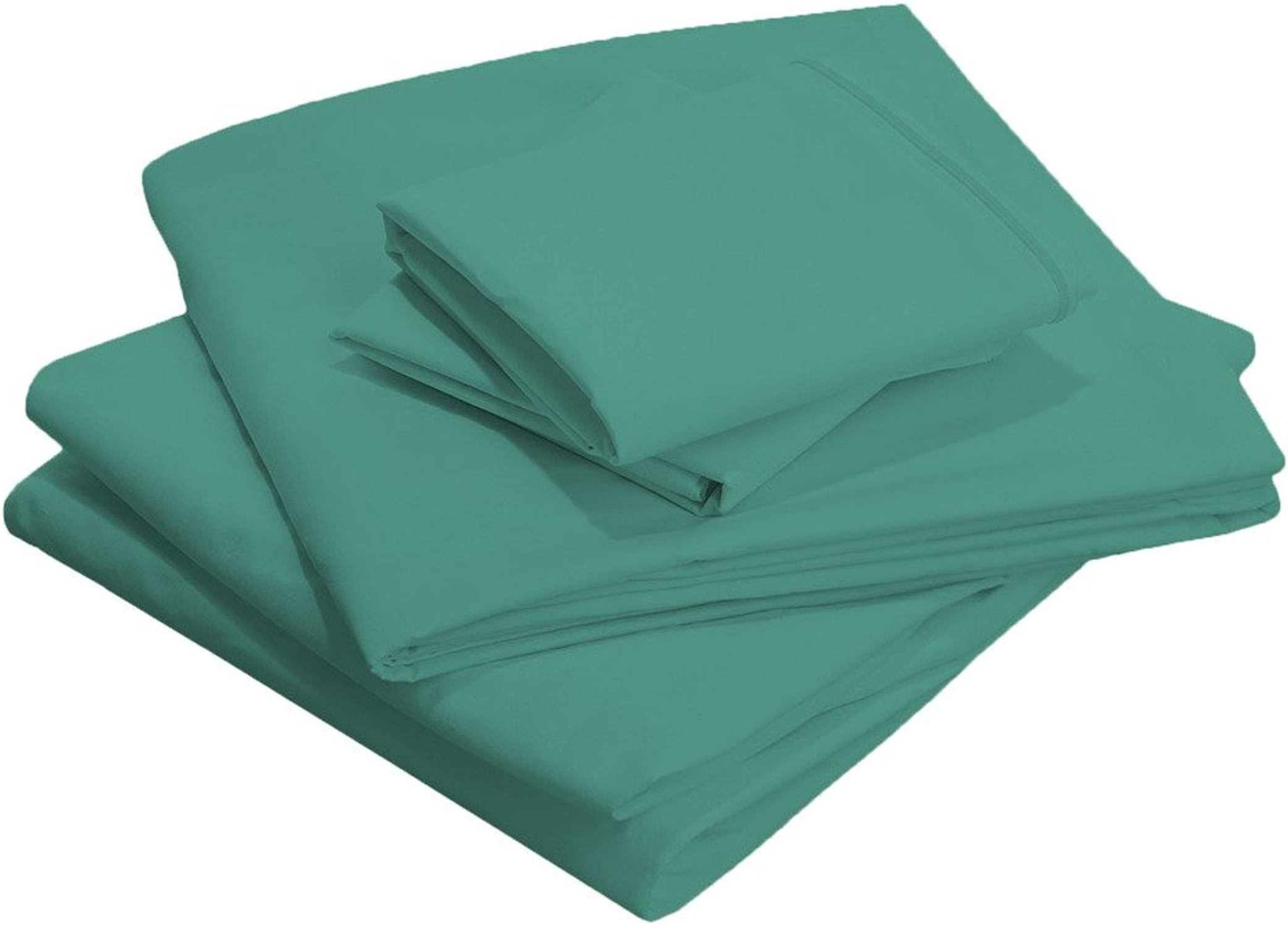 Scala Bedding fils 600, 100% coton égypcravaten, pleine Taille  XXL, Deep Pocket Sheet Set, cyan