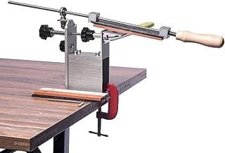 Knife Sharpener Tool with 3 Whetstone 360 Degree Rotation Fixed Angle - Easy