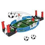ZQO Mini Table Top Soccer Shoot Game Indoor Desktop Interactive Football Board Toys con Dos Bolas para Fiesta Familiar, Regalo para Niños