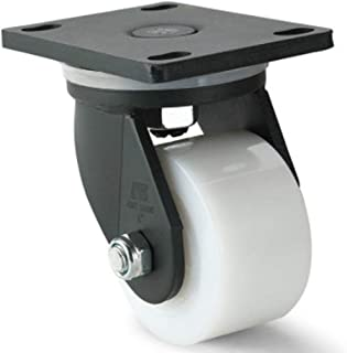 2Pcs Ruedas Pesado Duty 200mm Nylon Universal Rueda con Freno Transporte Industrial Ruedas Giratorias Carro para Médico Muebles Supermercado White-Nylon Wheel 6 Inch Brake