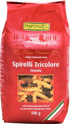 Rapunzel Spirelli Tricolore Semola bunt, 6er Pack (6 x 500 g) - Bio