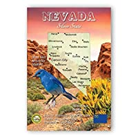 NEVADA MAP postcard set of 20 identical postcards. NV state map post cards. Made in USA. [並行輸入品]