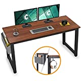Cubiker Computer Desk 63' Modern Sturdy Office Desk Large Writing Study Table for Home Office with Extra Strong Legs, Espresso