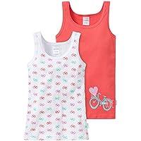 Schiesser 148611, Camiseta de Tirantes Para Niñas, Multicolor (sortiert 1 901), 8-9 años (140), Pack de 2