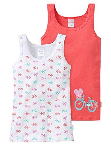 Schiesser 148611, Camiseta de Tirantes Para Niñas, Multicolor (sortiert 1 901), 6-7 años (128), Pack de 2