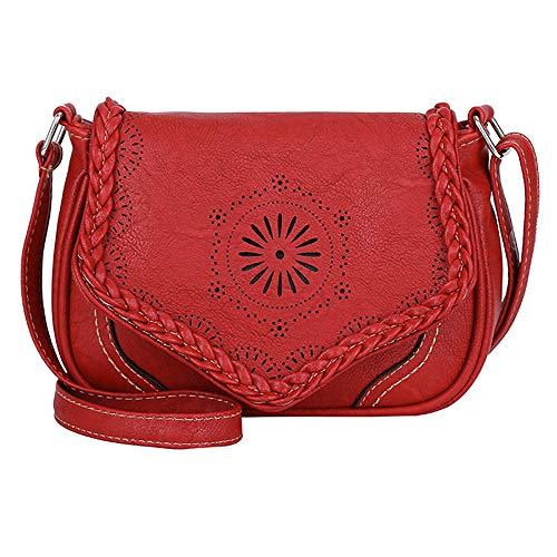 Bolso bandolera  Mujer Rojo rojo//negro Vishes