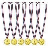Pllieay 48 Piezas Medallas de Plastico Medallas Niños Deportivas Medallas Winner para Niños Fiesta Deportiva, Competencia, Fiesta, Recompensa