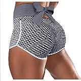 ldgr Workout Yoga Shorts Womens Short Leggings,High Waisted Back Bow Bandage,Butt Lift Workout Shorts Scrunch Booty Yoga Short Pants