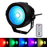 Stage Wash Light, JLPOW Super Bright COB Par Can Lights with DMX and Remote Control, Smooth RGB Color Mixing DJ Up lighting, Best for Wedding/Birthdays/Christmas Party Show Dance Gigs Bar Club Church