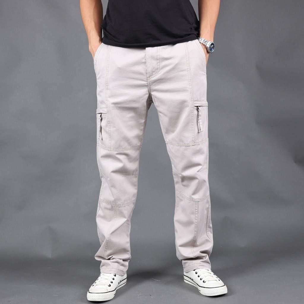 Jogging Pantalons de Surv/êtement Ceinture /élastique Sport Cargo Pantalons avec Poches Joggers Activewear Pantalons pour Homme