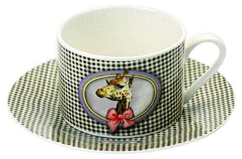 Jd Diffusion K4753GIR Eugenie - Cofanetto Tazza da tè con piattino, Multicolore