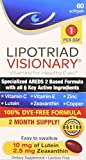 Lipotriad Visionary Eye Vitamin and Mineral Supplement with AREDS2® Ingredients in Our own Custom Formula, 60 Count