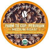 Bean Envy Organic Single Serve Coffee Pods - Fair Trade, Specialty Grade, Small Batch, Medium Roast- Compatible With Keurig Brewers - Peruvian (36ct)
