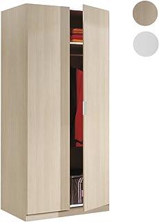 Habitdesign LCX022R - Armario Dos Puertas, Color Roble, Medidas: 81 cm (Largo) x 180 cm (Alto) x 52 cm (Fondo)