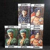 ワンピース Grandista THE GRANDLINE MEN フィギュア ゾロ【全1種】2個 エース【全1種】2個 ロー【全1種】1個 合計5個セット